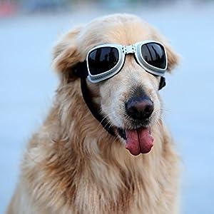 PETLESO Large Dog Goggles Sunglasses UV Goggles Goggles Golden Retriever Goggles Square