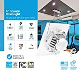 Parmida 6-inch LED Square Downlight LED Trim, 15W