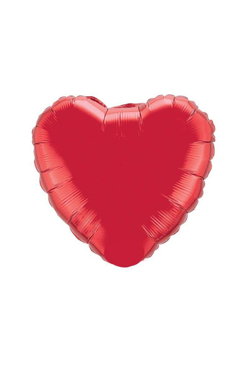 36 Red//red Heart Balloon 1 Ct