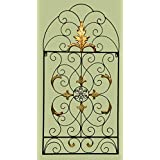 E64009 Metal Wall Decorative Scroll Design Window