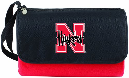picture of NCAA Nebraska Cornhuskers Outdoor Picnic Blanket Tote, Red