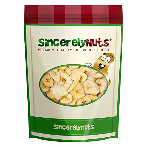 Sincerely Nuts Banana Chips Sweetened - Insanely Delicious - One Lb. Bag – Packed With Mineral Nutrients - Ready To Eat - Sealed For Freshness - Kosher Certified ()