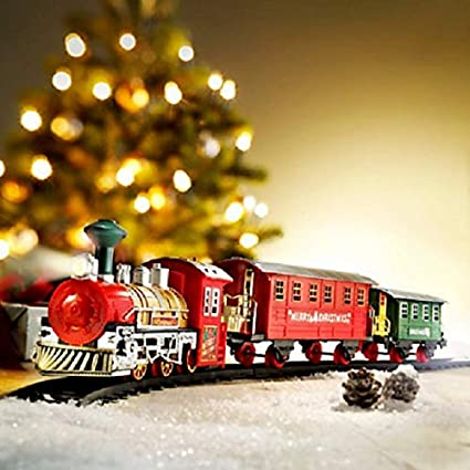 9-teilig oder 22-teiliger Weihnachtszug Zug Lok Lokomotive Spielzeug Schienen