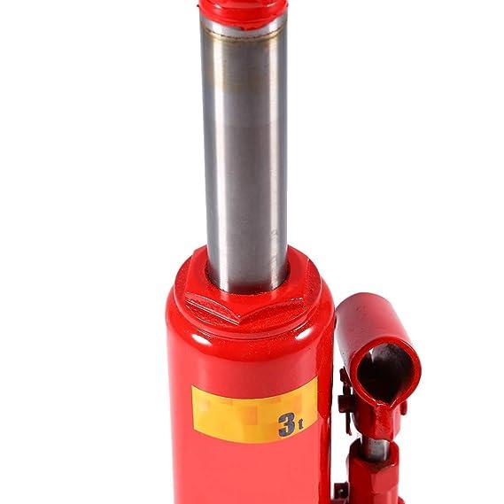 Gato Hidráulico Coche, Gatos Estabilizadores de Acero Gato Hidraulico Botella Toneladas Capacidad de Carga Gran Elevación Jackt Camion Profesional (3T): ...