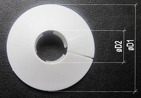 2 piezas 2 x de cuello cubierta de los tubos de 18 mm radiador PCV blanco: Amazon.es: Bricolaje y herramientas