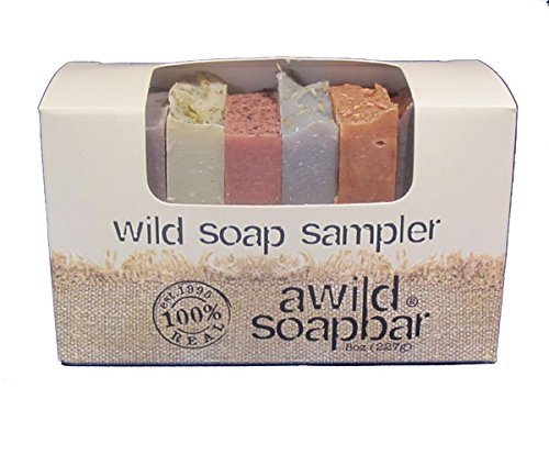 Wild Soap Sampler Gift Set with 8 Small, Natural  Organic Bar Soaps for Guests or Travel, Handmade by A Wild Soap Bar