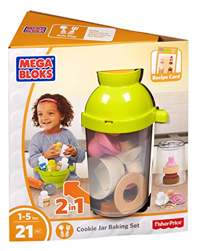 Mega Bloks First Builders Cookie Jar Baking Set Building Kit ()