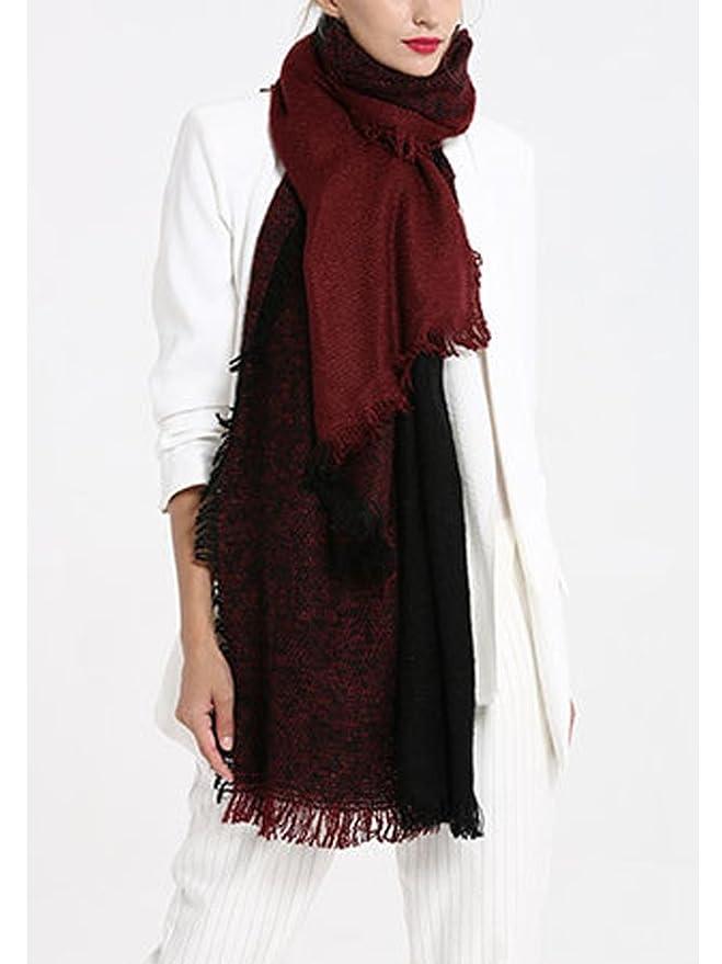 SOIXANTE Echarpe femme tissu épais en tricoté foulard chaude hiver longueur  195cm  Amazon.fr  Vêtements et accessoires a1feeef68c6