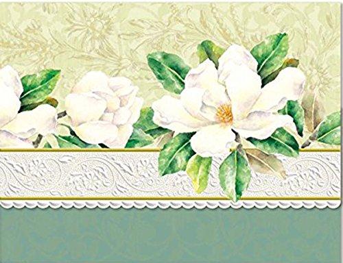 Carol Wilson Fine Arts Inc White Magnolia Blank 10 Card Set Portfolio