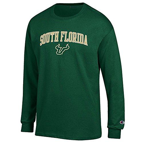 (Elite Fan South Florida Bulls Men's Long Sleeve Arch Tee Shirt, Forest Green, Large)