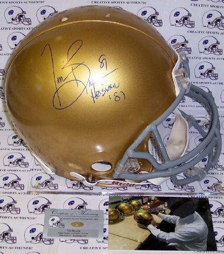 (Tim Brown Hand Signed Notre Dame Fighting Irish Authentic Helmet - PSA/DNA)