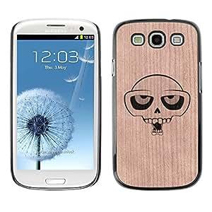 Funda Cubierta Madera de cereza Duro PC Teléfono Estuche / Hard Case for Samsung Galaxy S3 / Phone Case TECELL Store / Cráneo de la historieta Diversión Ojos del patinador Skull Cartoon Fun Eyes Skater