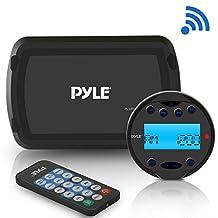 Pyle PLMR93W Bluetooth Marine Stereo Radio Receiver System, Water-Resistant/Weatherproof, LCD Display, MP3/USB Reader, Am/FM Radio, Remote Control