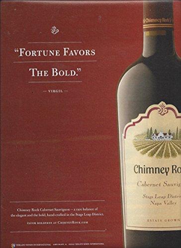 MAGAZINE AD For Chimney Rock Cabernet Sauvignon Napa Fortune Favors The Bold