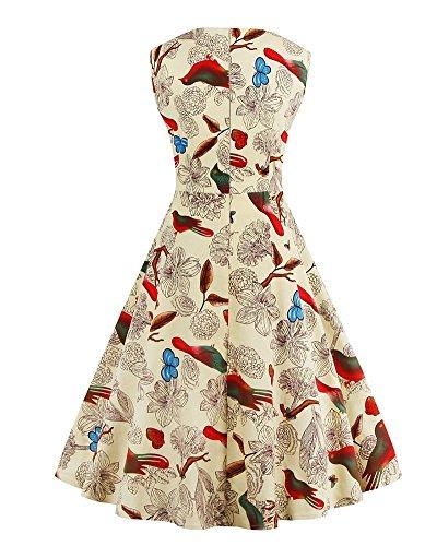 Vintage Robes Up 1950s Beige Formelles Hepburn YiLianDa Soire de Robe Robe Pin Audrey Femmes Y5w0x7