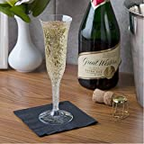 Fineline Settings Flairware Clear 5 oz. Two-Piece Champagne Flute, 50 Flutes