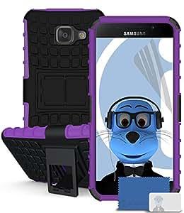iTALKonline Samsung Galaxy A5 (2016 SM-) A510F negro dura choque cobertura ensayo robusta y resistente de calefactor caso, el protector y pantalla LCD
