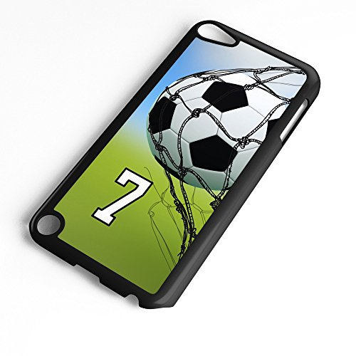 - iPod Touch Case Fits 6th Generation or 5th Generation Soccer Ball #0500 Choose Any Player Jersey Number 7 in Black Plastic Customizable by TYD Designs