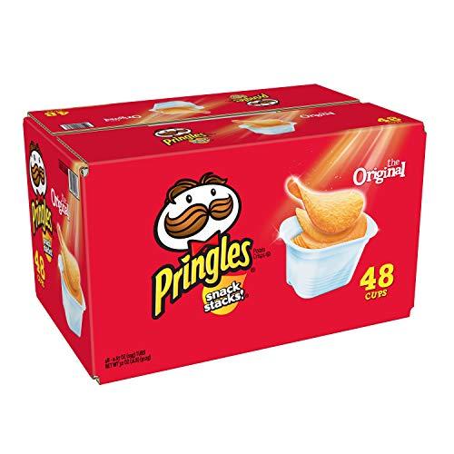 Pringles Snack Stacks Potato Crisps Chips, Original Flavored, 32 oz (48 Cups)