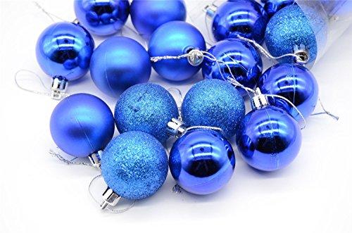 Tozz Pro ® 21ct Matte Dark Blue Hot Shatterproof Christmas Ball Ornaments 1.56