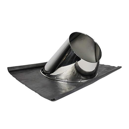 Schornstein Dachdurchf/ührung inklusive Wetterkragen in allen Neigungen und Durchmessern /Ø 180mm, 31-45/° Edelstahl mit Blei