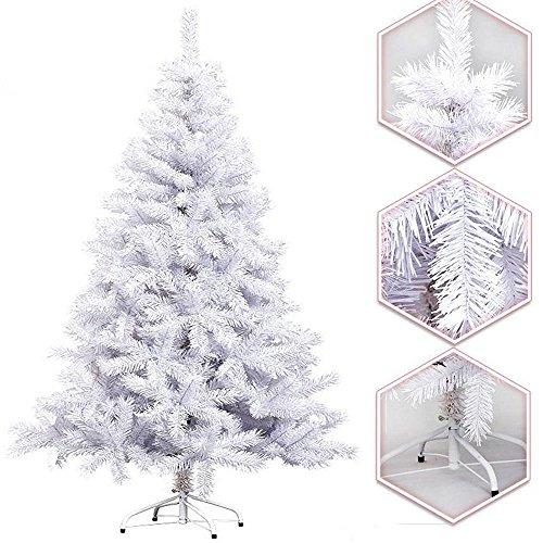 Hengda® Hoch Künstlicher Weihnachtsbaum Tannenbaum Christbaum mit Ständer künstliche Tanne (180cm Weiß)