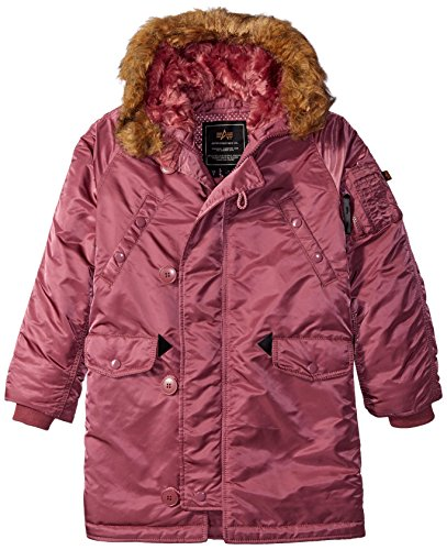 Alpha Industries Big Girls' Youth N-3b Parka, Tulip, X-Small/6/7 by Alpha Industries