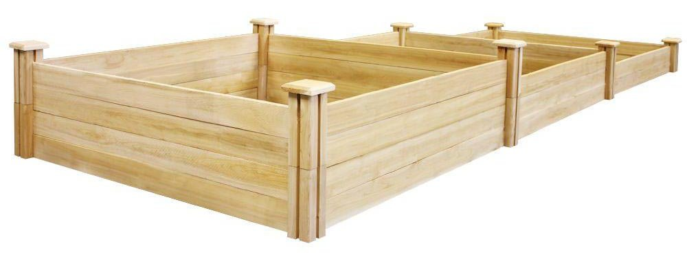 Greenes Fence Stair-Step Dovetail Raised Garden Bed