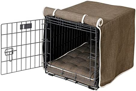 Bowsers Luxury Diam Microvelvet Dog Crate Cover Color Driftwood, Size Large 23 H x 36 W x 25 D
