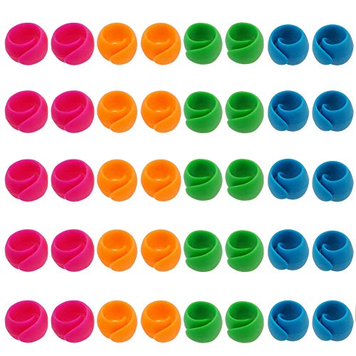 (RoomDiary 50pcs Spool Huggers to Prevent Thread Unwinding and Keep Thread Tails Under Control)