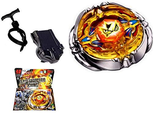 /Paracolpi in metallo Masters della serie beyblades Fusion OVP girevole Launcher Rapdity Flash Sagittario combattimento Trottola 4d Power Acciaio/