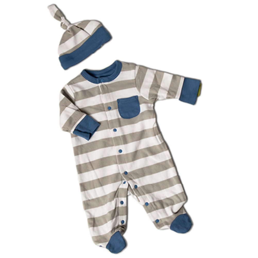 日本製 OffSpring Stripes SLEEPWEAR White ユニセックスベビー and Newborn White and Grey Stripes B01INYGDXC, 夢店舗 お酒屋:31d075ad --- turtleskin-eu.access.secure-ssl-servers.info
