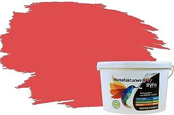 RyFo Colors Bunte Wandfarbe Manufakturweiß Wassermelone 10l   Weitere Rot  Farbtöne Und Größen Erhältlich, Deckkraft Klasse 1, Nassabrieb Klasse 1: ...