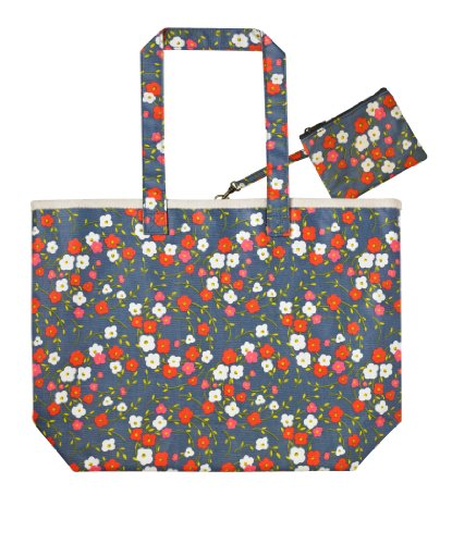 Windswept Floral Oil Cloth Shoulder Bag by Ulster Weavers
