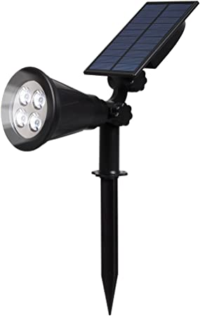200LM LED Solar Light Waterproof Spotlight Outdoor Garden Lawn Wall Night Lamp