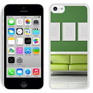 NEW Unique Custom Designed iPhone 5C Phone Case With Light Green Sofa Room_White Phone Case