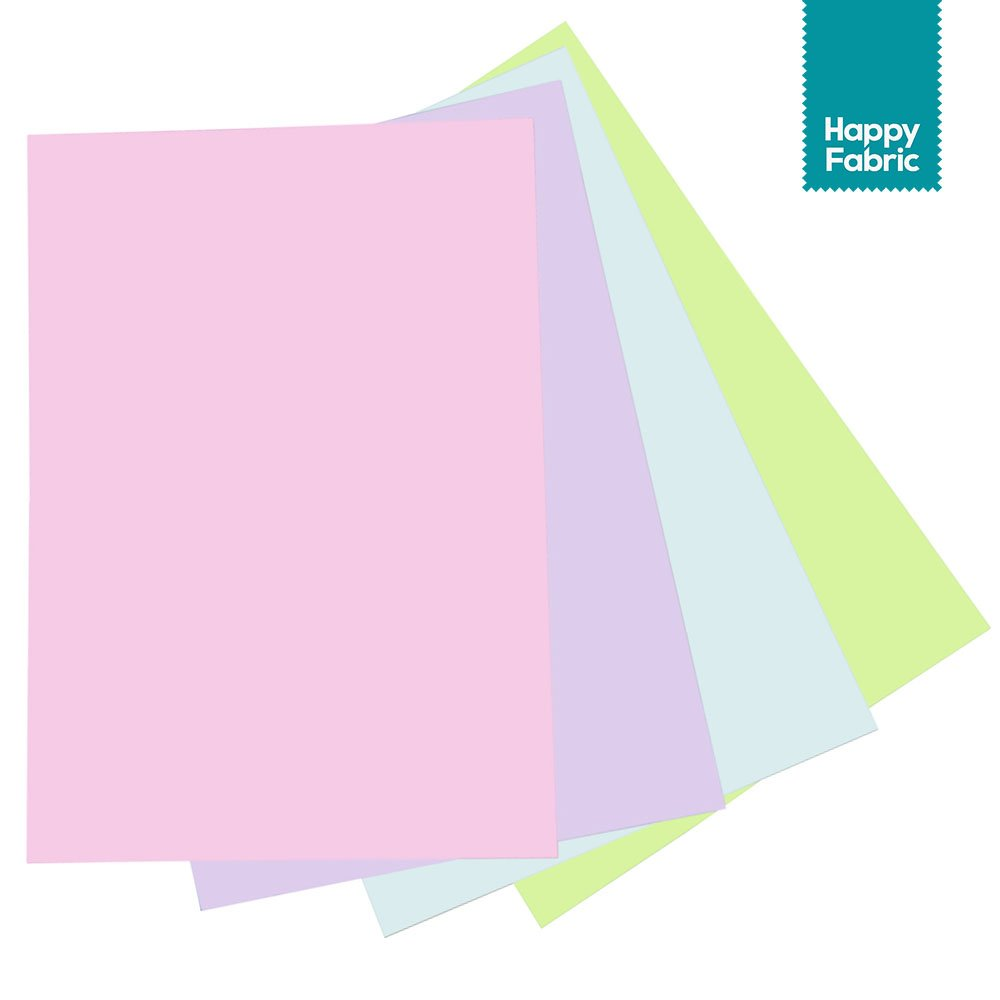Pastellfarben Folienset HappyFabric