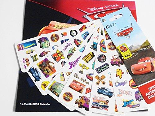 Disney Pixar Cars 3 2018 Calendar and Sandylion Sticker Bundle Photo #4