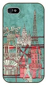 iPhone 5 / 5s Vintage, retro Eiffel Tower - black plastic case / Paris, France