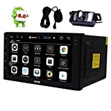 """Eincar Backup Camera + 7"""" Android Car Stereo GPS Navigation Marshmallow 6.0 Touch Screen Radio No DVD 2 DIN Head Unit WiFi, 3G, 4G, OBD2, Bluetooth, Dual Camera Input, Free External Microphone"""