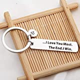 LQRI I Love You Most The End I Win Keychain