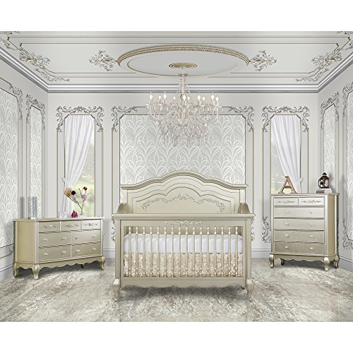 Evolur Aurora 5 in 1 Convertible Crib, Gold Dust