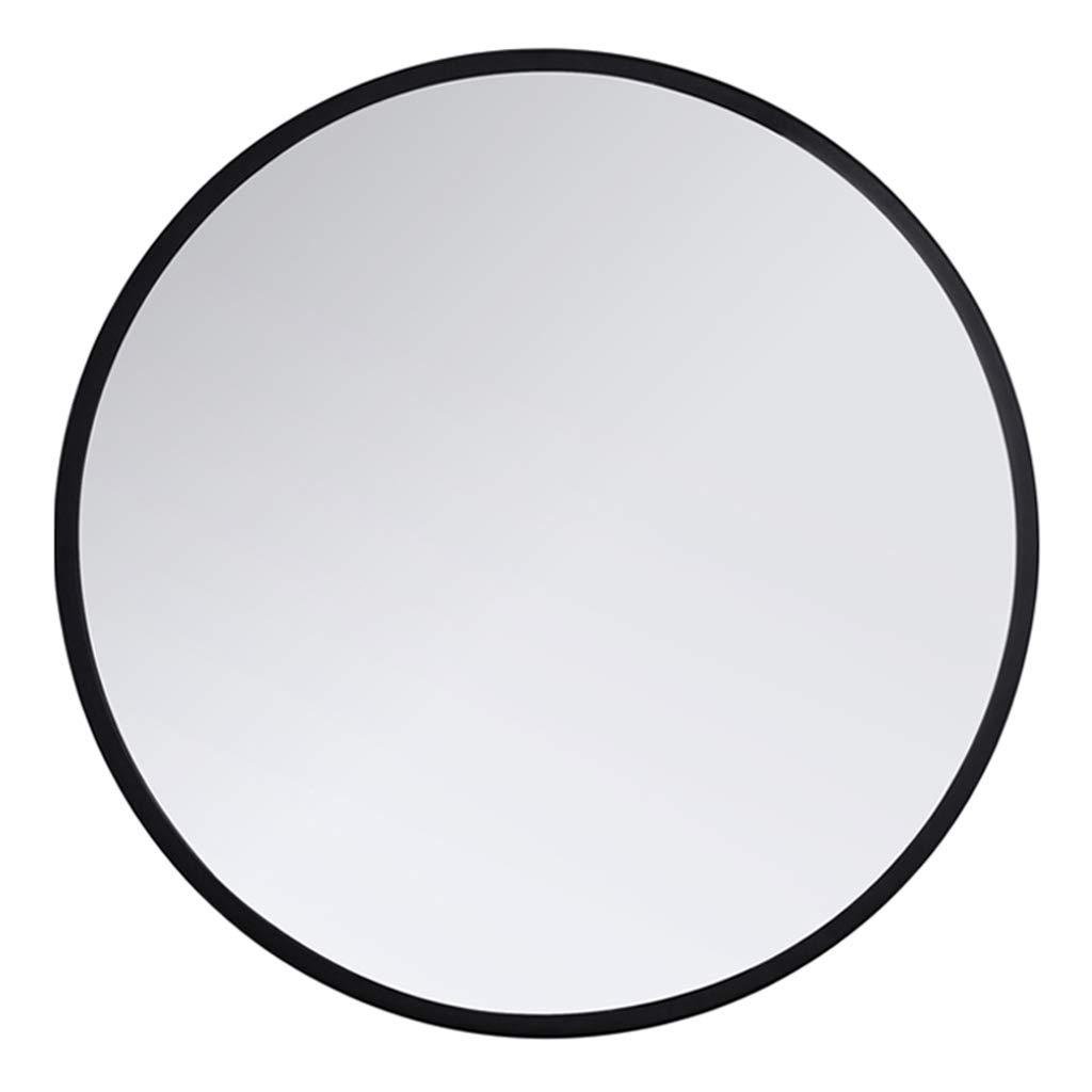 XFPINK Dressing Mirror Metal Frame Dressing Mirror Plane Shaving Mirror Circle Vanity Makeup Mirror Wall Hanging Decorative Mirror Round Bathroom Mirror, Diameter 40/50/60/70/80cm, Gold, Black,White