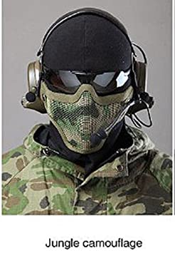 Tactical Military CS Airsoft Pro Safety Metal Mesh Strike Half Face Scouts Mask