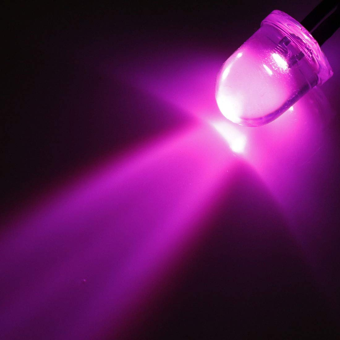 20pcs x pink 10mm Round LED Pre Wired Lights 12V 20cm Bulbs Lamp Pink