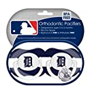 MLB Detroit Tigers Pacifiers, 2-Pack