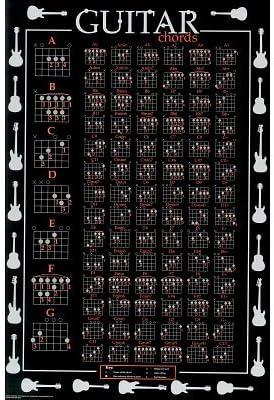 24 x 36) The Ultimate tabla de acordes de guitarra música Póster ...