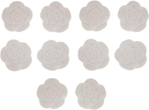 アロマストーン 花形 DIY アロマセラピー エッセンシャルオイル 家庭用 車用 10個入り