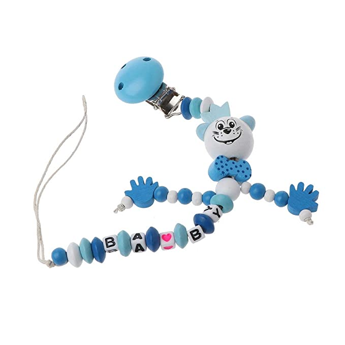 Zhangyo Baby Chupete Clip Chain Infant Boys Girls Letters ...