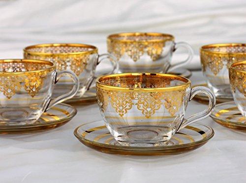 Turkish Coffee Mug Set 12 Pcs- Tea Glasses Sets- Arabic coffee Mugs-Ethnic designed Nescafe cups.